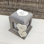 Shabby Chic In Memory Of BROTHER Or ANY NAME Rustic Wood Personalised Photo CUBE